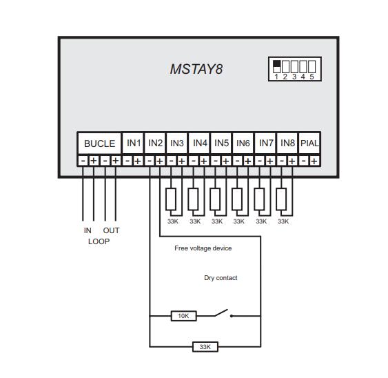 Moudle giám sát 8 ngõ vào MSTAY8