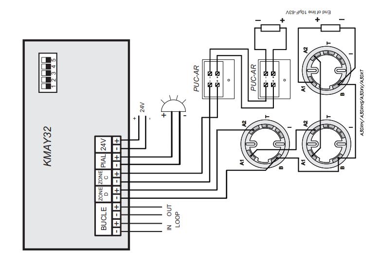 Sơ đồ kết nối module KMAY32