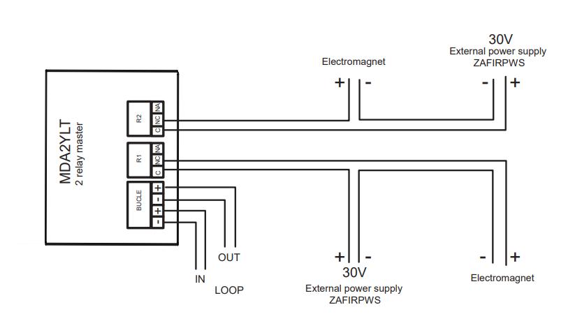 Sơ đồ nguyên lý module điều khiển 2 ngõ vào MDA2YLT