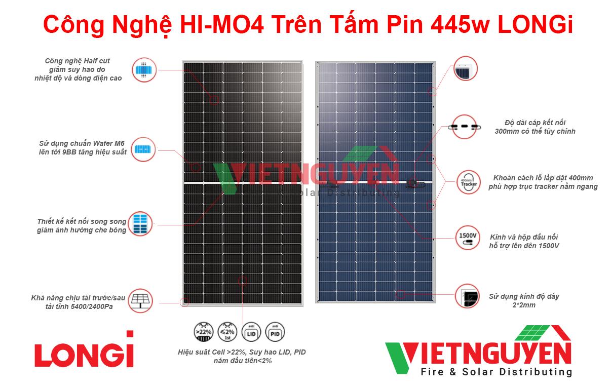 công nghệ HI-MO4 trên tấm pin mặt trời LONGi