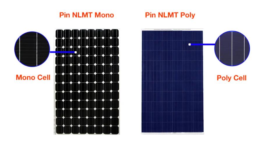pin mặt trời poly và mono