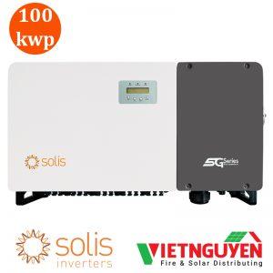 inverter hòa lưới 100kw 3 pha solis chính diện